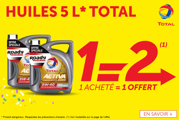 Offre huile Total OP09 2019