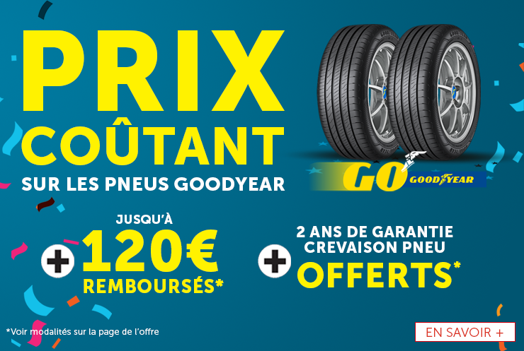 Offre prix coutant Goodyear
