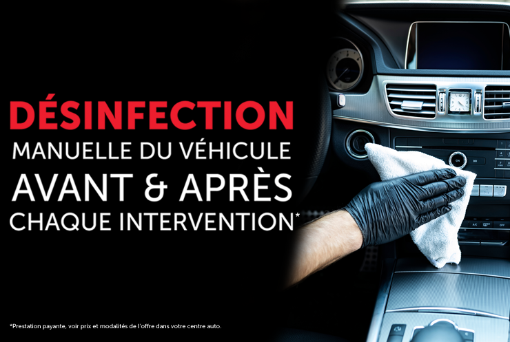 Information desinfection vehicule