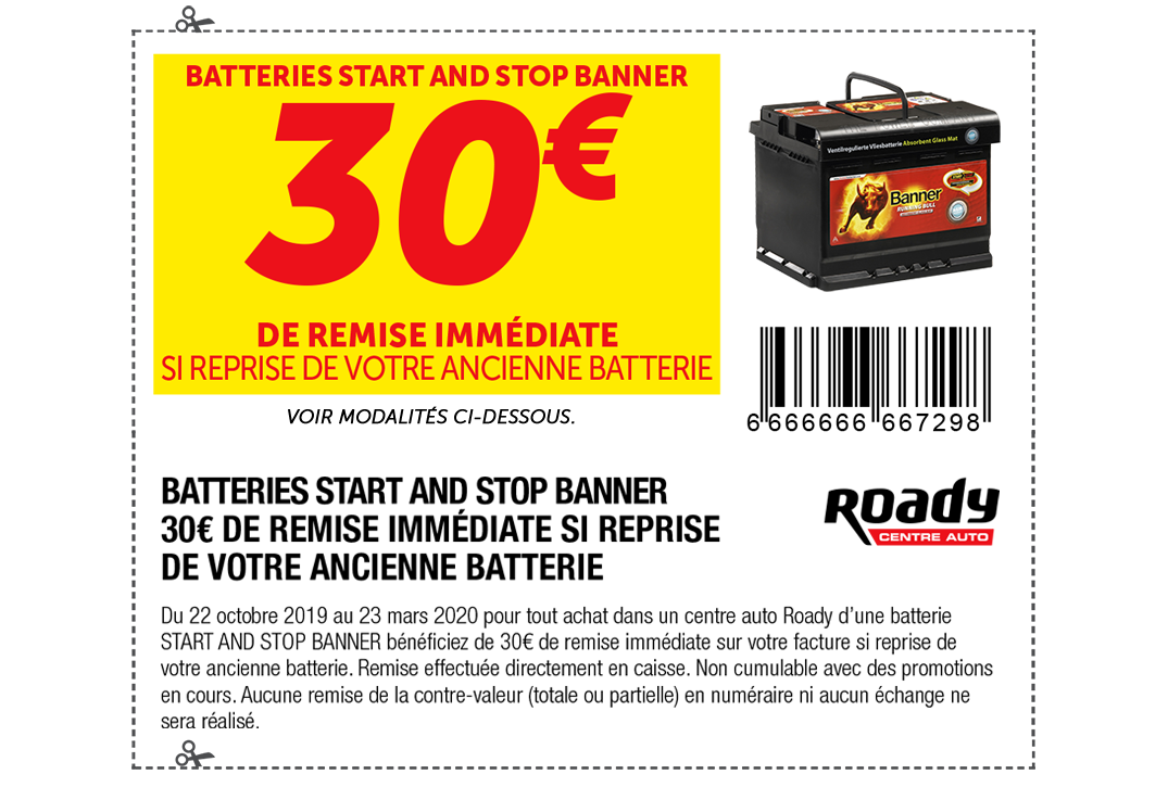 Batterie Start and Stop Banner