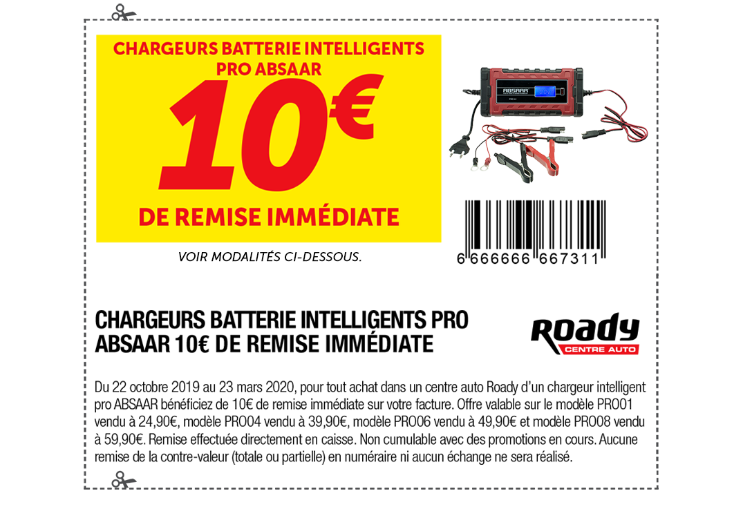 Chargeurs de batterie intelligents Pro Absaar