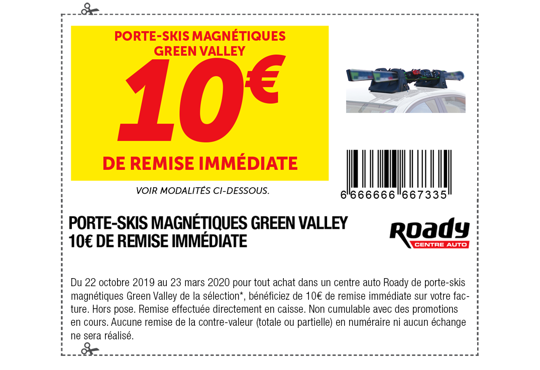 Porte-skis magnétiques Green Valley